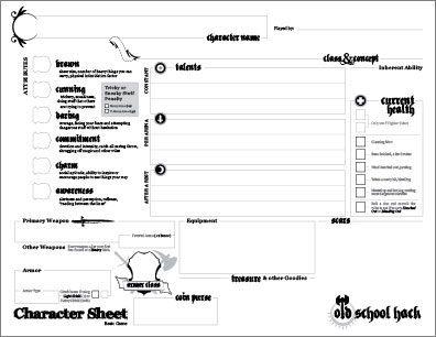character sheet download
